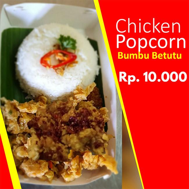 Chicken popcorn bumbu betutu