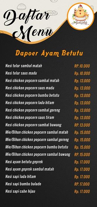 Daftar Menu Ayam Betutu
